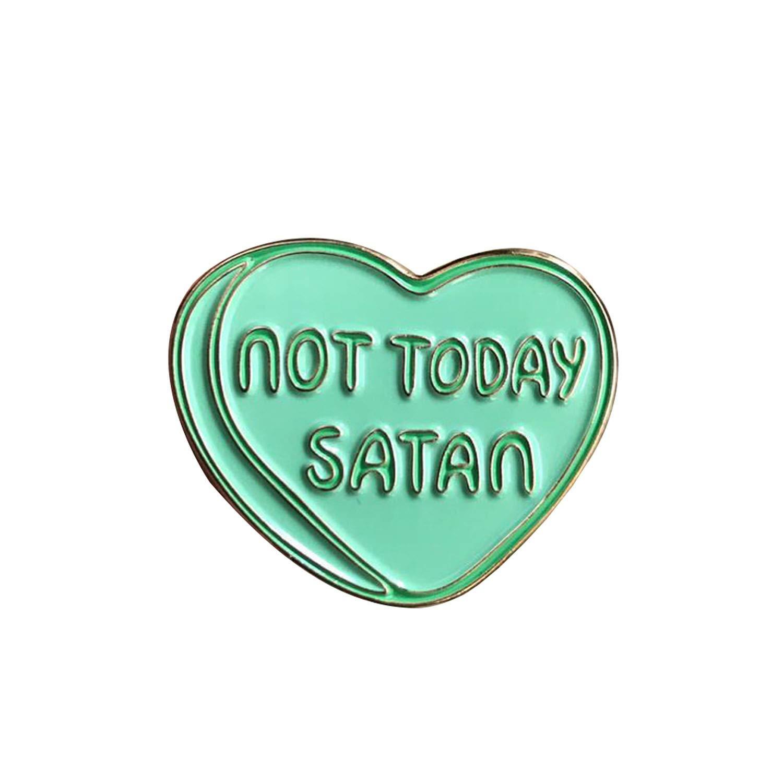 Fashion wonderland Not Today Satan Tombstone Enamel Pin Enamel Pin