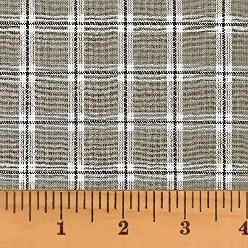 Magnolia Gray 6 Homespun Cotton Plaid Fabric by JCS - Sold by The Yard (Yard Rustic The Fabric By)