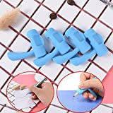 LONG7INES 12 Pcs Handle Style Pencils Training Grip Holder Ergonomic Pencil Grips Aid Original for Kids Handwriting Universal Writing Aid for Righties and Lefties, Blue