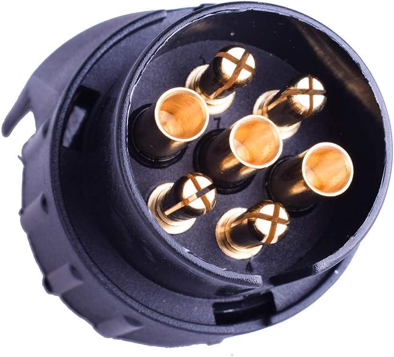 EKYLIN 7 Pin to 13 Pin Trailer Adapter for Towbar Truck Caravan Plug Electric Socket Connector European Standard Plug Waterproof