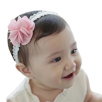 Baby Kinder Mädchen Haarband Stirnband Haarschmuck Blumen Schleife Kopfschmuck