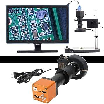 US Plug Digital Microscope Camera,1080P HDMI 4608x3456 USB C-Mount Electronic Industrial Microscope Camera 100-240V