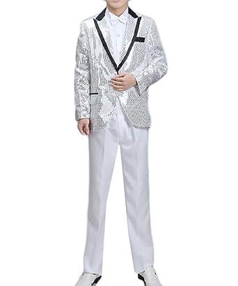 Aooword-men clothes Corbata de lentejuelas desgastar tops ...
