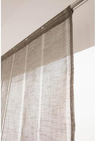 Tissu en Lin Naturel pour Rideau de Verre Porte ou Fenêtre Meubles Maison