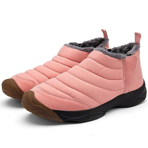SANMIO Damen Schneestiefel, Winter Outdoor Waterproof Schneestiefel, Winterschuhe Warm Boots Stiefelette Damenschuhe gefüttert