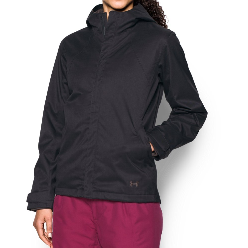 Under Armour Women's Sienna 3-in-1 Jacket, Truffle Gray/Mocha, Small by Under Armour
