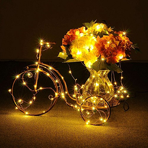 Extra Long 100foot 300led Starry String Lights Warm White on a Flexible Copper Wire, 100foot Starry Lights for Indoor, Outdoor, Decorative , Patio, Wedding, Garden, Room by MineTom (Image #7)