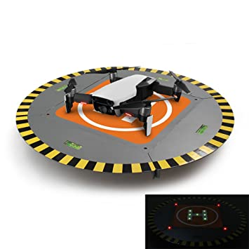 RCGEEK Landing Pad Extensible Launch Pad With LED Lights in