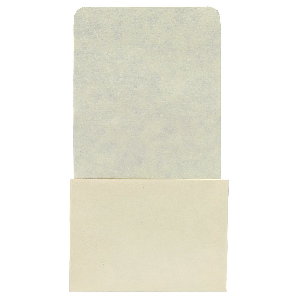 Plain Back Book Pockets - High Back - No Date Grid - 6-1/4'' H x 3-1/2'' W x 2-1/2'' D - 500pk by The Library Store