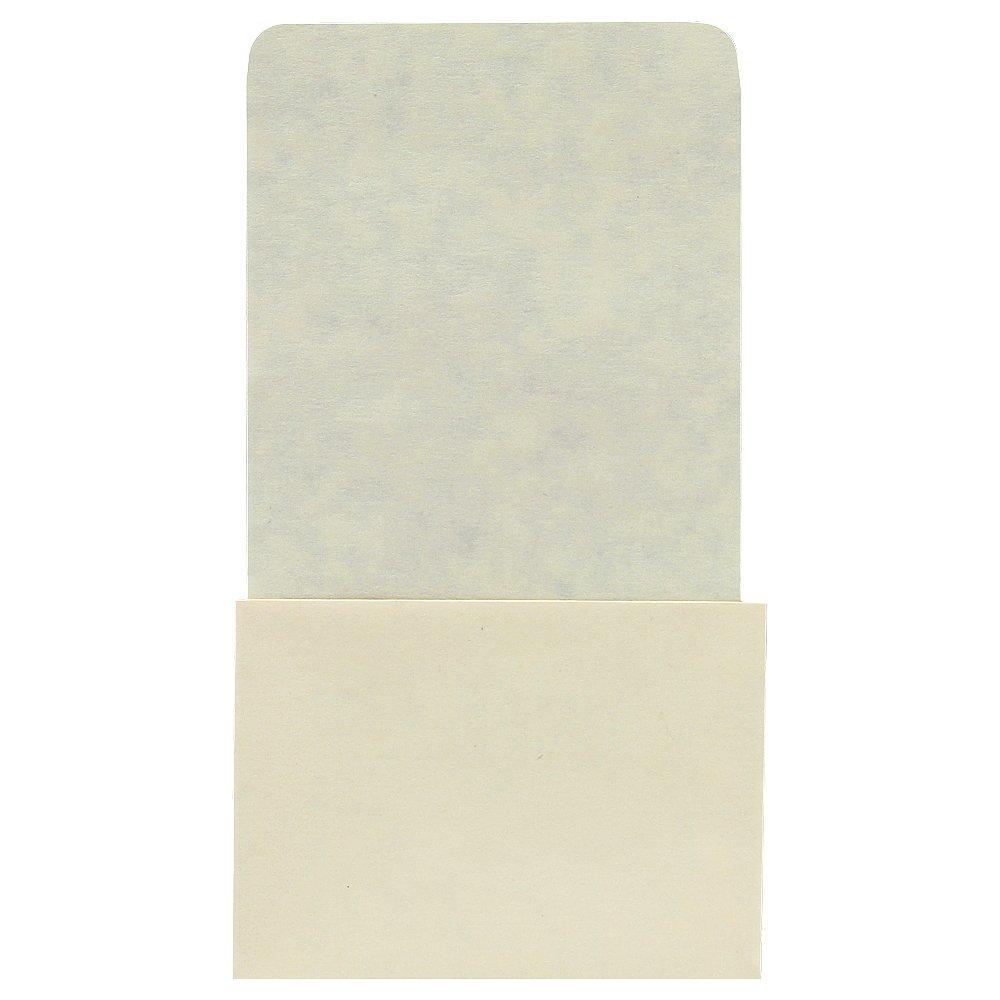 Plain Back Book Pockets - High Back - No Date Grid - 6-1/4'' H x 3-1/2'' W x 2-1/2'' D - 500pk