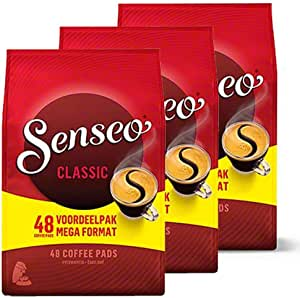 Senseo Coffee Pads Classic, Classical, Pack of 3, Rich and Full-Bodied Flavour, Coffee, 144 Pads