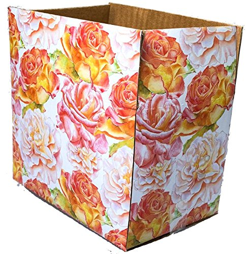 Decorative Corrugated Box - 25 6x4x4 Blossom Designer Boxes corrugated Cardboard Box Shipping Cartons Mailers Blossoms Custom Printed Containers 6