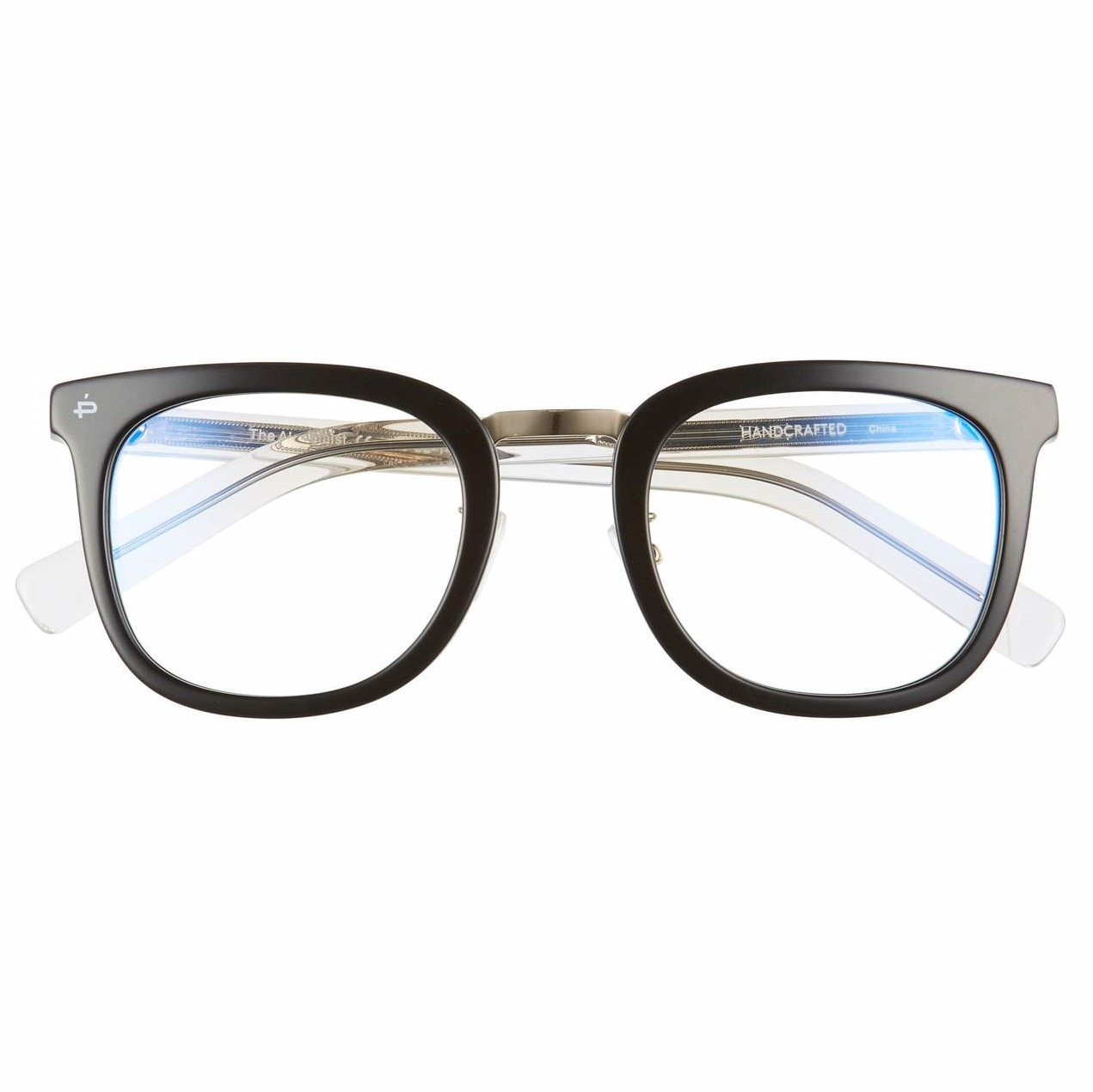 "b3879716a4 PRIVÉ REVAUX ""The Alchemist"" Handcrafted Designer Eyeglasses With Anti  Blue-Light Blocking Lenses (Black)"