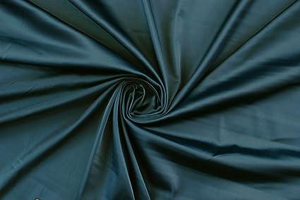 Tela por metros, satén, color azul oscuro