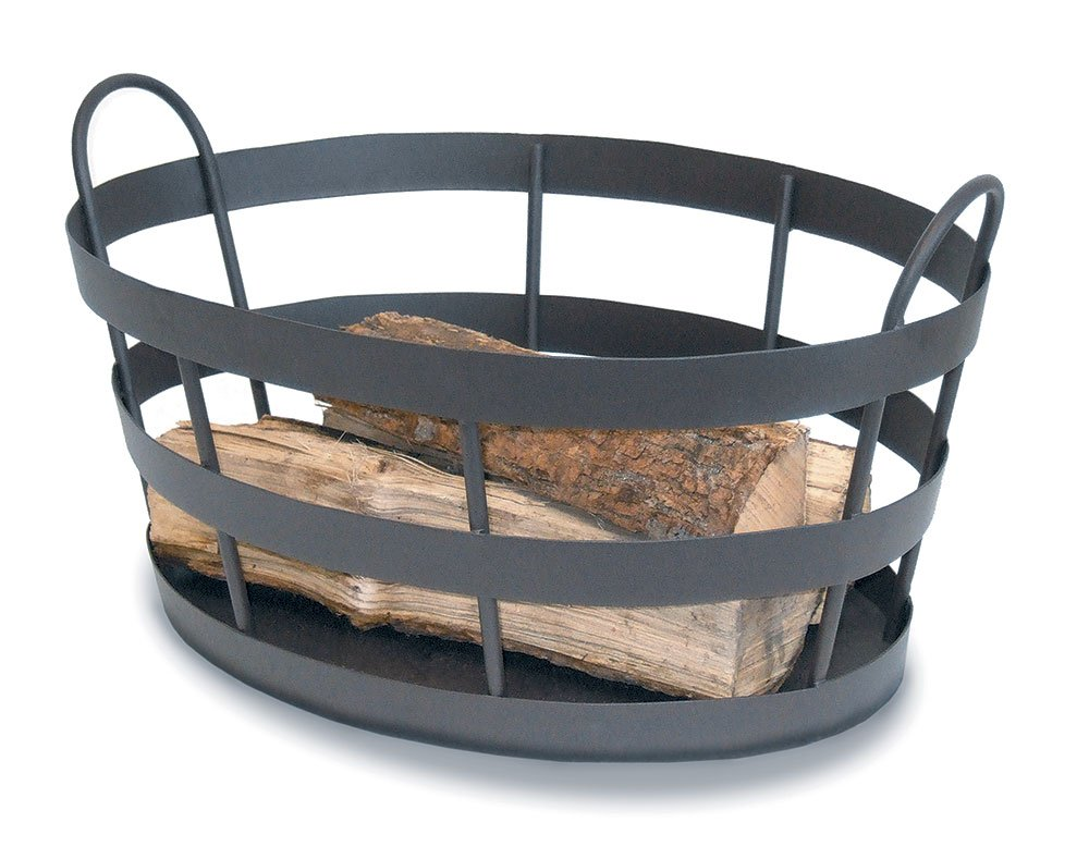 Minuteman International BIN-02G Log Basket, Graphite by Minuteman International