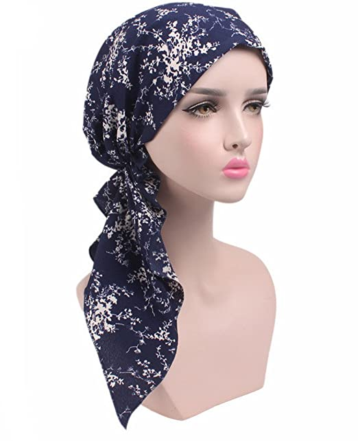 0548ee04b50 Chemo Fashion Scarf Easy Tie Padded Cotton Lined Turban Hat Headwear for  Cancer  Amazon.ca  Clothing   Accessories
