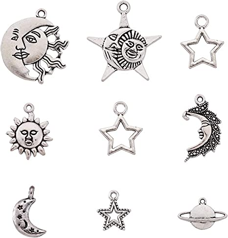 40Pcs Tibetan Silver Music Notes Theme Charm Pendant Beads Jewellery Making