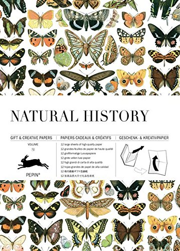 Gift Wrap Book Vol. 72 - Natural History (Gift & Creative Paper Books) (English, Spanish, French and German Edition) (Pepin Press)