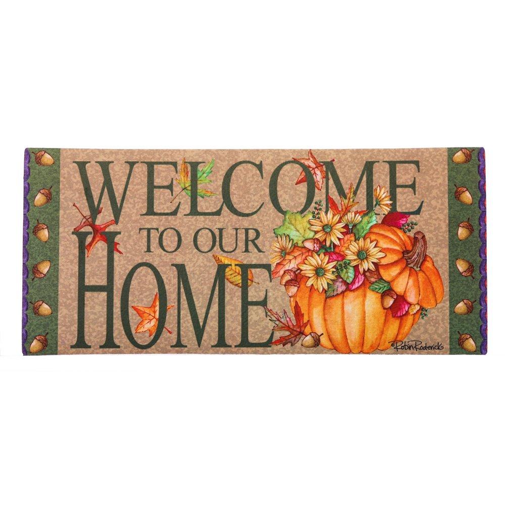 Evergreen Fall Holiday Sassafras Switch Mat (Pumpkin Bucket)