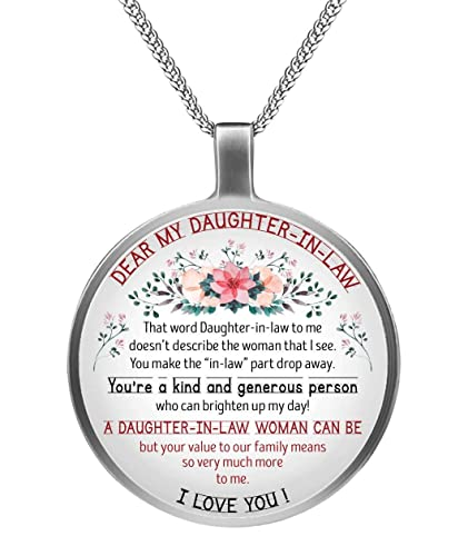 Daughter In Law Inspirational Circle Necklace Birthday Graduation Gift Best Souvenirs For Mother