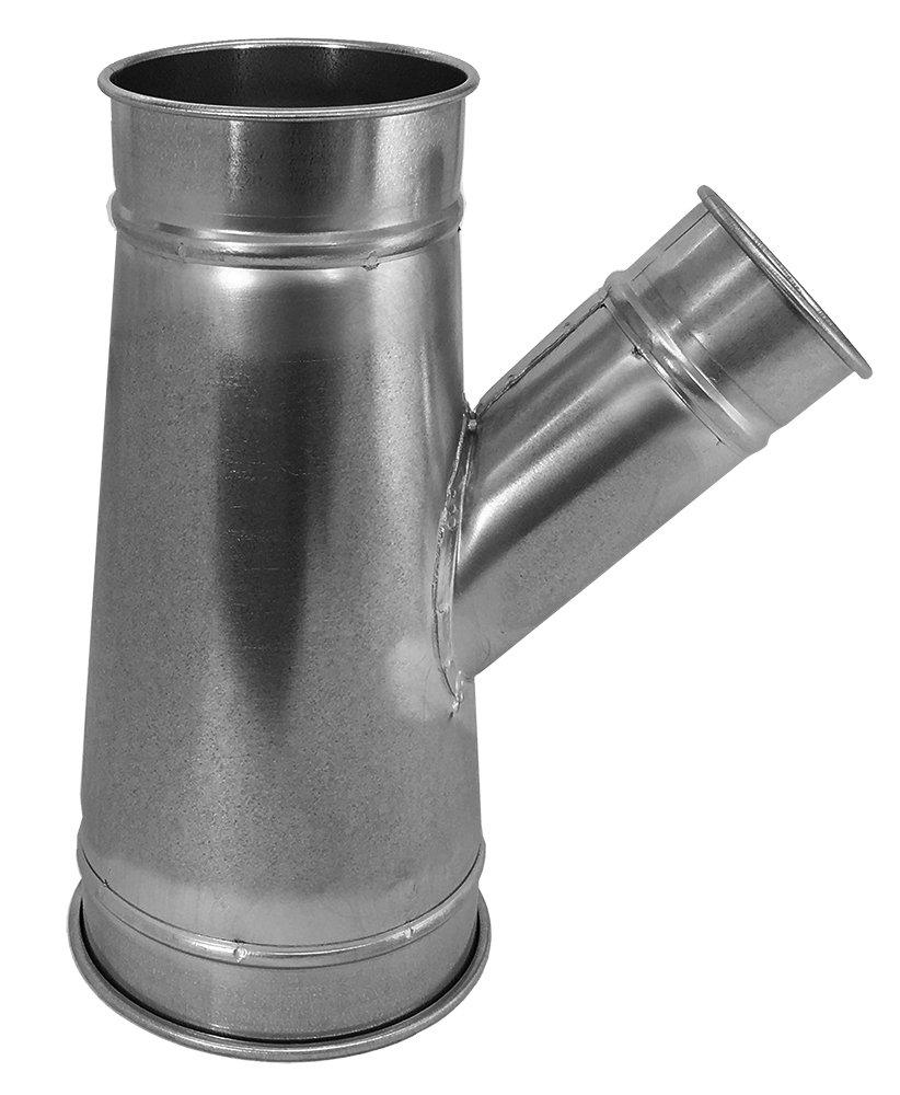 Nordfab Ducting 3220-0604-104000 QF Branch 30 Degree 6-4-4, 6 dia, Galvanized Steel by Nordfab B019IHBIGK