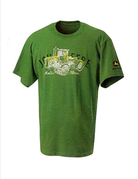 3dc23e0c1aa John Deere Green Tractor Moline Ill T-Shirt Size Large at Amazon ...