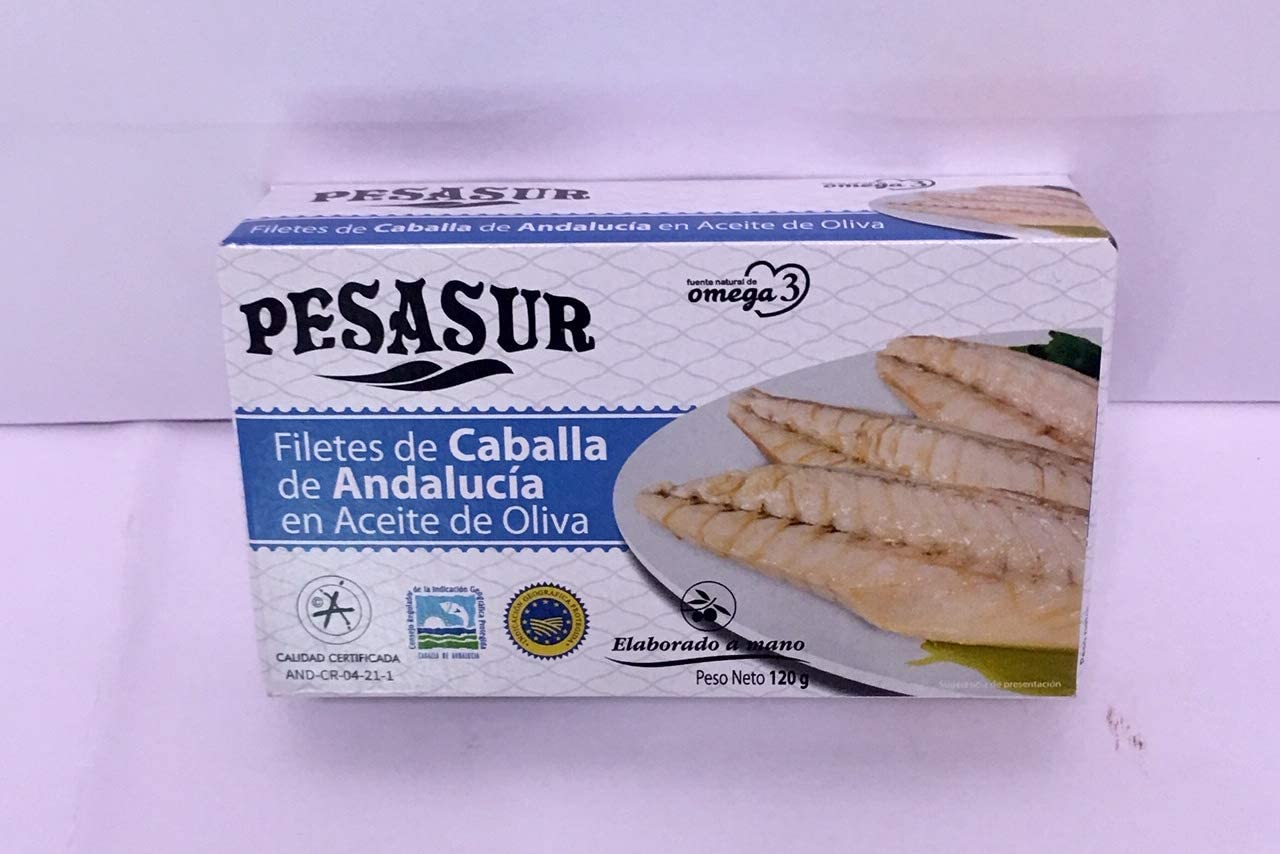 Filetes de Caballa en aceite de oliva 120 g