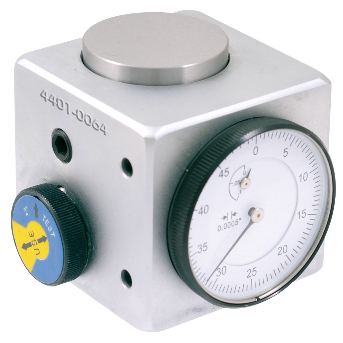 HHIP 4401-0064 Pro-Series Dial Z-Axis Setting Indicator with Mag Base, 2'' Square x 2'' Height