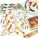 レジン 封入素材 フィルム シート 金魚イラスト 水草 夏 和風金魚鉢