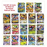Mega EX 18 Cards Set of Charizard Rayquaza All No Repeat English Proxy Card Platinum Series Newest 2016