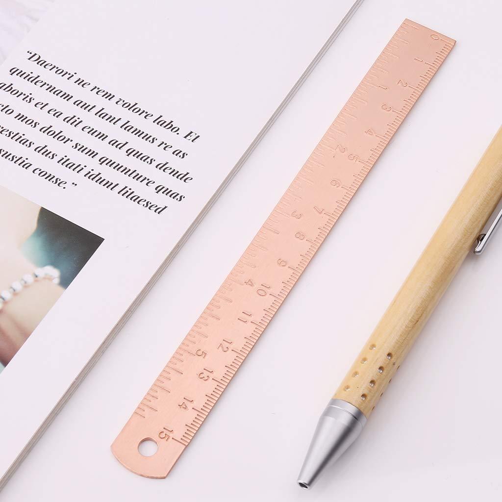 Fafalloagrron Lineal Vintage Kupfer Messing Lineal Lesezeichen Lesezeichen Kartographie Malerei Messwerkzeug B/üro Schule Schreibwaren