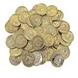 Fun Express Plastic Gold Coins (With Sticky Notes)