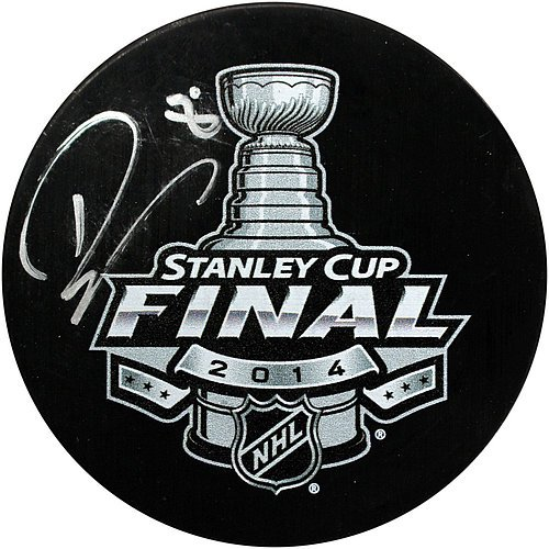 Drew Doughty Signed 2014 Stanley Cup Finals Puck - Certified Authentic Autograph