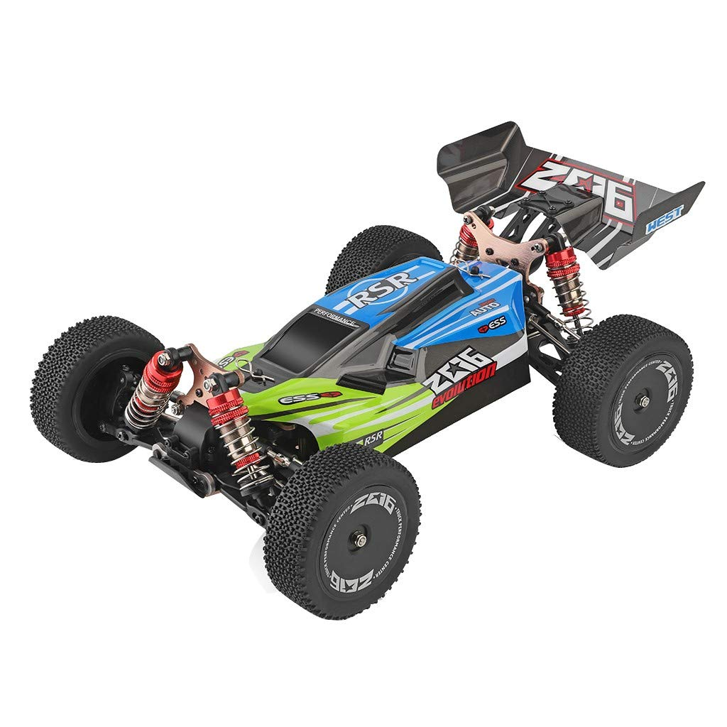 Terrain Car,Stunt RC Car,Wltoys 144001 1/14 2.4G 4WD 60KM/h High Speed Buggy RC Off Road Vehicle Car Driving Toy Gifts Vehicle Truck for Adults and Kids Xmas Gifts (Green) by Lucoo Toy
