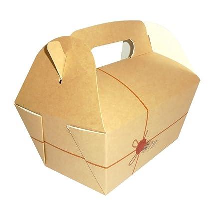 Unidades 50 caja porta alimentos con mango estuche de pura ...
