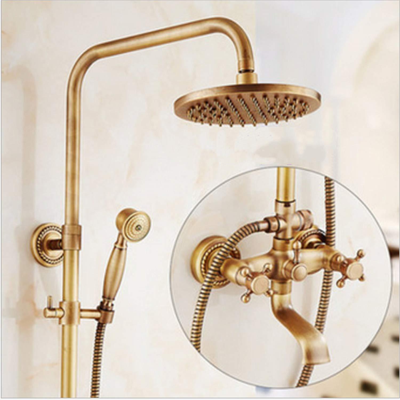 UNIQUE-F Shower Set Brass Structure Top Spray Rain Head Hand-held Spray High-end Luxury Personality Switch Valve