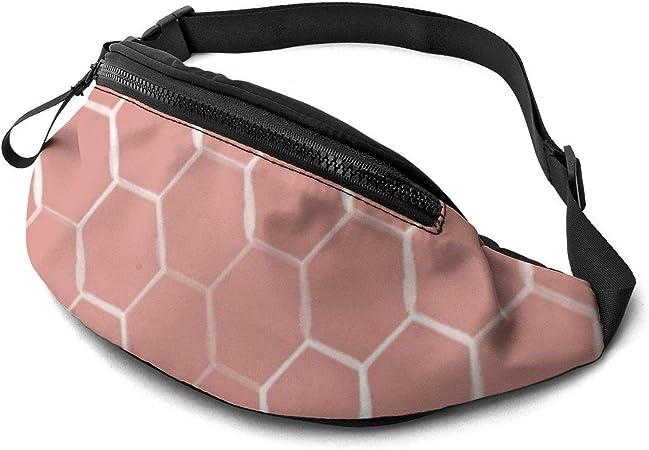 Bandolera de panal de abeja con patrón hexagonal en coral ...