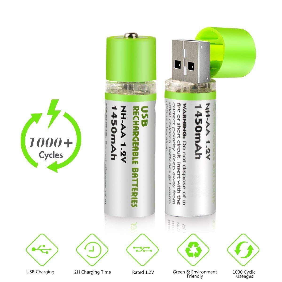 Usb Rechargeable Aa Batteries Enegitech 2 In 1 Design Charger Circuit Ni Mh 12v 1450mah Battery Keyboards Toys Remote Controller Health Personal Care