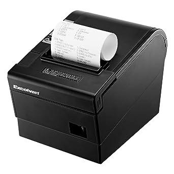 Excelvan Mini Impresora Térmica de Recibo Portátil, ticket ...