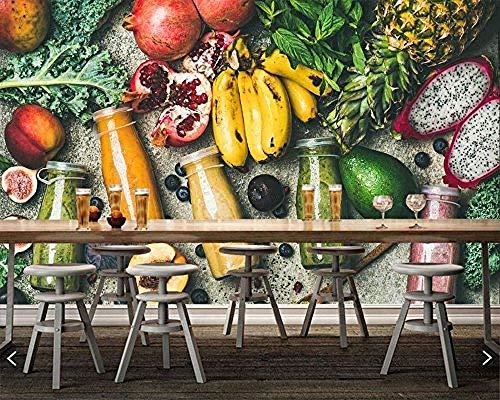 FSLUCKY Juice Fruit Avocado Bananas Food Photo Wallpaper Restaurant Bar Lounge Bar Tv Sofa Wall Kitchen 3D Wall-A