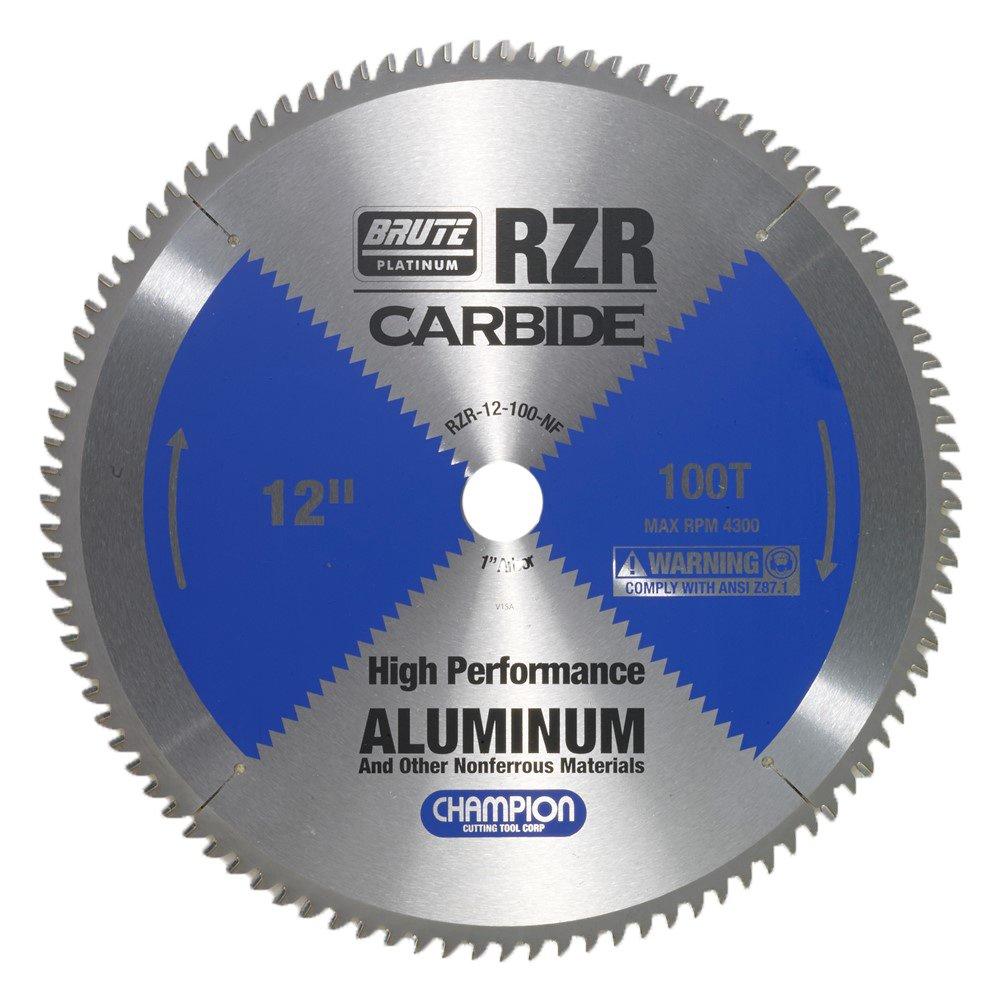 Disco Sierra CHAMPION RZR 12100 NF 12 100T Corte Alumbre