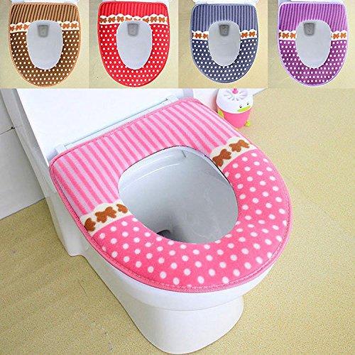 Bazaar 42x36cm Waschbar Badezimmer Dot Toilettensitzauflagen Closessitzkissen Plü sch Pad Big Bazaar