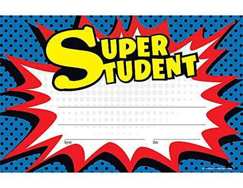 Teacher Created Resources Superhero Super Student Awards (5569) -