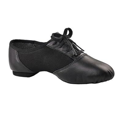 Capezio Unisex Suede Sole S0000458B0WBLK035 Adult Lace Up Jazz Shoes Black Size 11