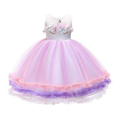 beda97effac5 Lee Little Angel New 2018 Dress Girls Princess Dress Unicorn Skirt (100, A)