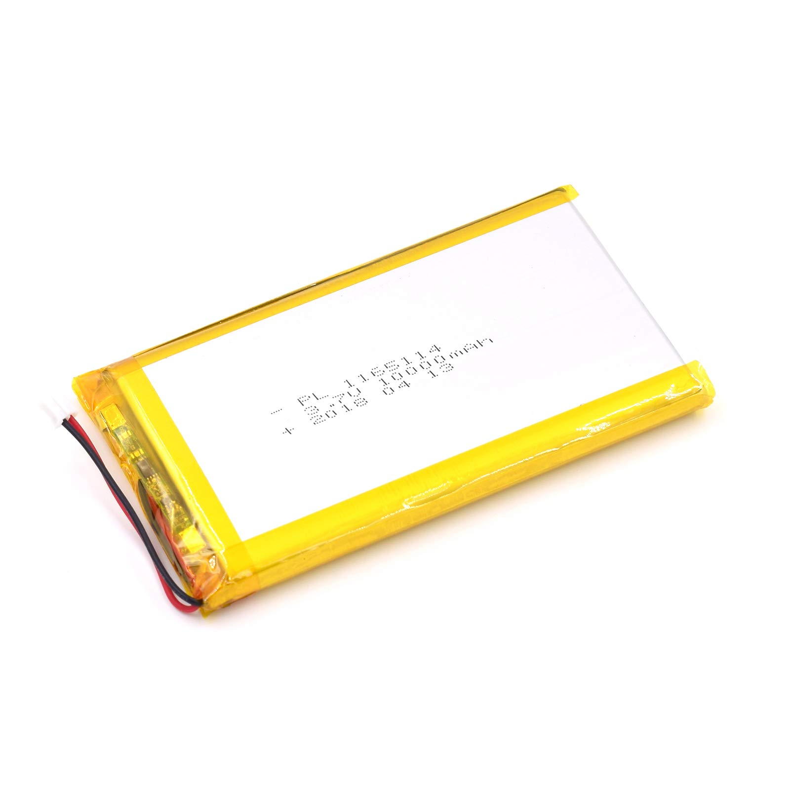 3.7V 10000mAh 1165114 Lipo Battery Rechargeable Lithium Polymer ion Battery Pack with JST Connector by YDL