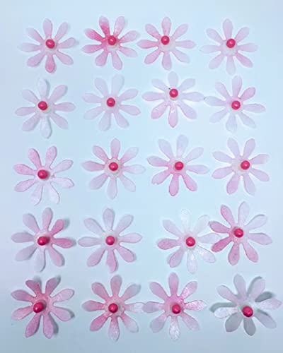 Amazon edible rice paper daisy flowers for cake decoration 20 edible rice paper daisy flowers for cake decoration 20 medium cake topper mightylinksfo