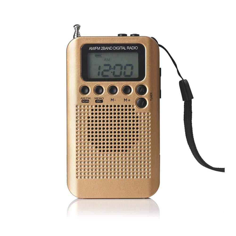 beautygoods Radio Am FM portá til de Bolsillo, Pantalla Digital esté reo con Bolsillo para Deportes, para Caminar Senderismo Camping con baterí a de 2AAA, Buena selectividad, Ahorro de energí a Ahorro de energía