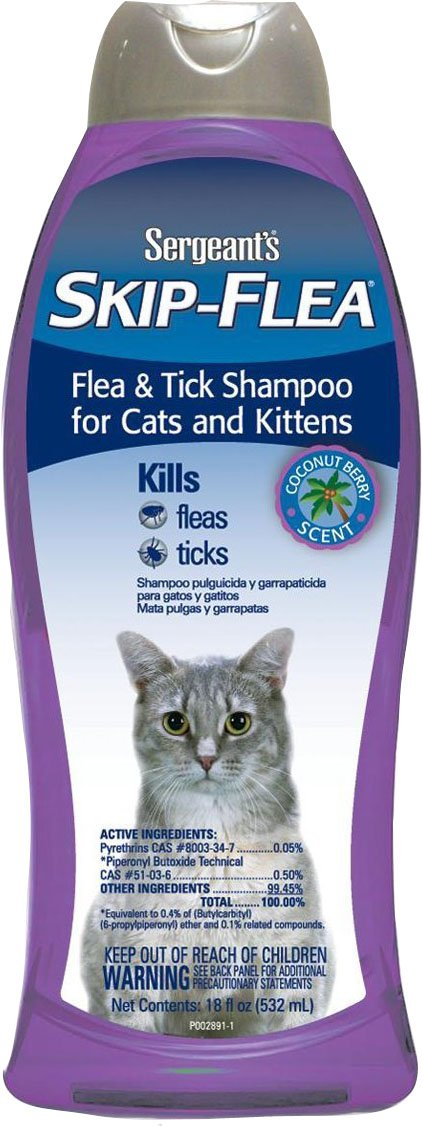 Amazon.com : Skip-Flea and Tick Shampoo Cat Coconut Berry 18-Ounce : Pet Flea Control Shampoos : Pet Supplies