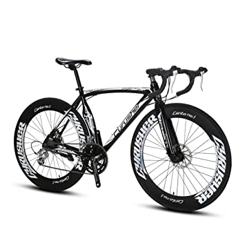 Extrbici® XC700 Sports Road Race Bike 16 velocidades 54 cm Marco de aluminio 700C 70